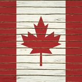 Canadian Flag on Wood Royalty Free Stock Images