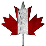 Canadian Flag - Wooden Leaf Royalty Free Stock Image