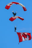 Canadian Forces Skyhawks Parachute Team Royalty Free Stock Images