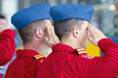 Canadian Forces Snowbird Crew Royalty Free Stock Photos
