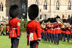 Canadian Grenadier Guards on parade in Ottawa, Canada Stock Photography