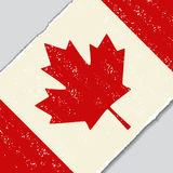 Canadian grunge flag. Vector illustration. Royalty Free Stock Photography
