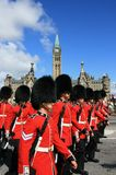 Canadian Guards Marching Stock Photo