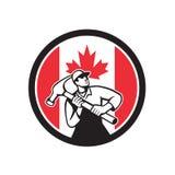 Canadian Handyman Canada Flag Icon Stock Image