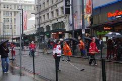 Canadian hockey fans Stock Image