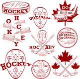 Canadian hockey symbolset Stock Photo