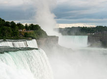 Canadian Horseshoe and American Falls at Niagara Royalty Free Stock Photography