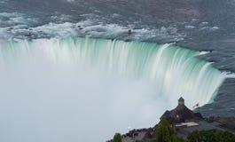 Canadian Horseshoe Falls at Niagara. Blurred motion of Canadian or Horseshoe waterfall from Canadian side of Niagara Falls Royalty Free Stock Image