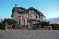 Canadian house on D-Day Juno beach. Canadian house on French Normandy D-Day Juno beach royalty free stock photography
