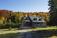 Canadian house in fall Royalty Free Stock Images