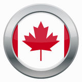 Canadian Icon. A canadian flag icon design isolated on a white background Stock Photo