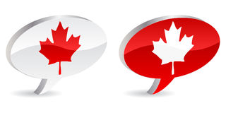 Canadian icons. Two canadian icons vector illustration Vector Illustration