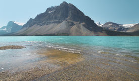 Canadian landscape with Bow lake and forest. Alberta. Canada Royalty Free Stock Photography