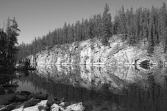Canadian landscape with lake and forest. Jasper.  Royalty Free Stock Photos