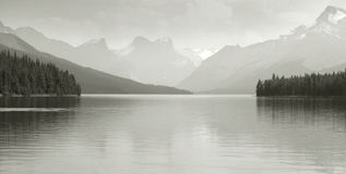 Canadian landscape with Maligne lake. Jasper. Alberta. Horizontal Stock Image