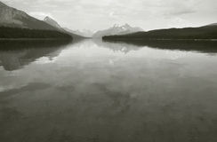 Canadian landscape with Maligne lake. Jasper. Alberta Royalty Free Stock Images