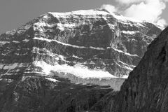 Canadian landscape with Mount Edith Cavell. Jasper. Alberta Stock Images