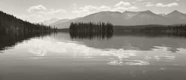 Canadian landscape in Pyraimd lake. Jasper.  Stock Images
