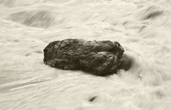 Canadian landscape with rock and water. Alberta. Canada Stock Photography