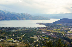Canadian landscape. A view taken near Penticton Canada from above Stock Photos