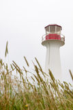 Canadian lighthouse. Old Canadian Lighthouse and tall grass Stock Images