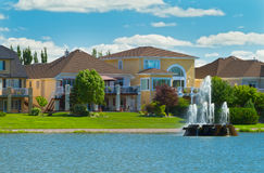 Canadian luxury houses in Manitoba Royalty Free Stock Images