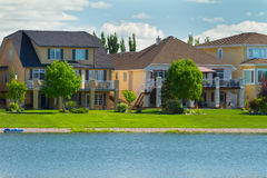 Canadian luxury  houses in Manitoba Stock Photos