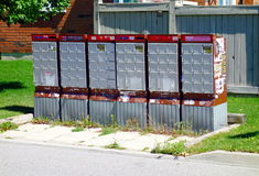 Canadian Mailboxes Stock Image