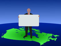 Canadian man with blank sign vector illustration