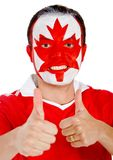 Canadian man with thumbs up Stock Image