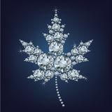 Canadian Maple Leaf Icon made a lot of diamonds Royalty Free Stock Photography