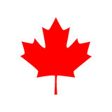 Canadian Maple Leaf Icon. Vector Illustration Stock Images