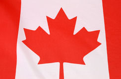 Canadian Maple Leaf red and white  flag Royalty Free Stock Photo