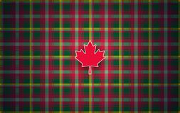 Canadian maple leaf tartan abstract modern background for Canada stock illustration
