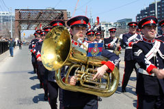 Canadian Marching Band Soldier Stock Images