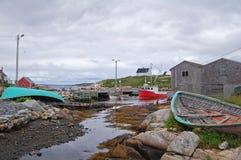 Canadian maritime village Royalty Free Stock Image