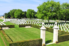 Canadian memorial and cemetery in Normandy Royalty Free Stock Photo