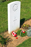 Canadian memorial and cemetery in Normandy Royalty Free Stock Photos