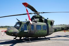 Canadian military helicopter Stock Photo