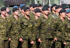 Military Marching In KDays Parade Edmonton Alberta Stock Images