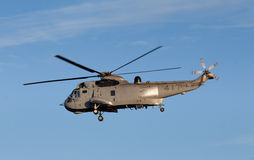 Canadian millitary helicopter in flight near Victoria, BC Royalty Free Stock Photos