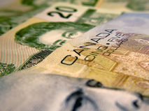 Canadian money Royalty Free Stock Images