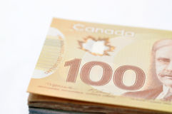 Canadian money background Royalty Free Stock Images