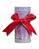 Canadian money gift Royalty Free Stock Photo