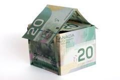 Canadian money house. On white background