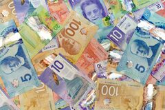 Free Canadian Money Layout Royalty Free Stock Images - 202756129