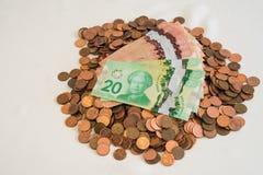 Canadian money Royalty Free Stock Photography