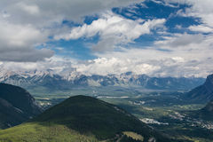Canadian mountains, clouds. Beautiful Canadian Rockies. Banff Alberta Royalty Free Stock Image
