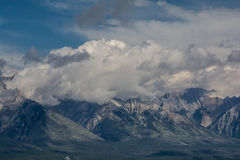 Canadian mountains, clouds. Beautiful Canadian Rockies. Banff Alberta Stock Photography