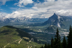 Canadian mountains, clouds. Beautiful Canadian Rockies. Banff Alberta Royalty Free Stock Photos